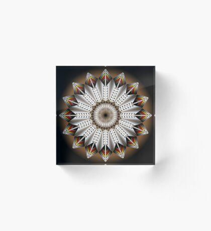 Native Feather Design Acrylic Block