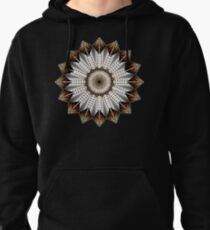 Native Feather Design Pullover Hoodie