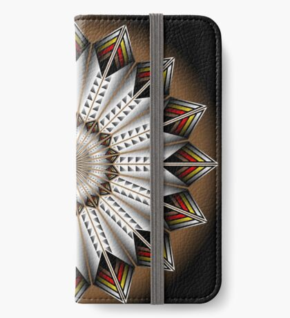 Native Feather Design iPhone Wallet
