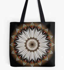 Native Feather Design Tote Bag