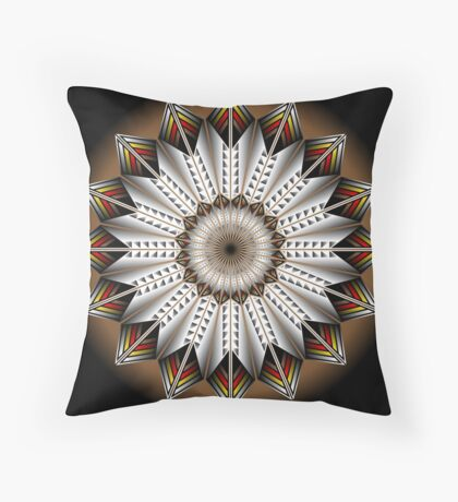 Native Feather Design Throw Pillow