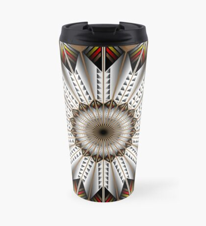 Native Feather Design Travel Mug