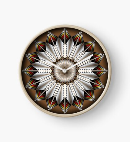 Native Feather Design Clock