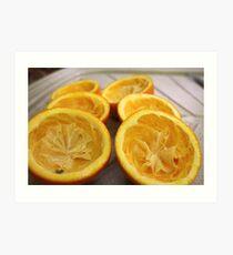 Half oranges Art Print
