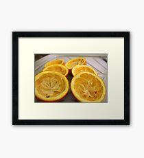 Half oranges Framed Print