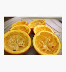 Half oranges Photographic Print