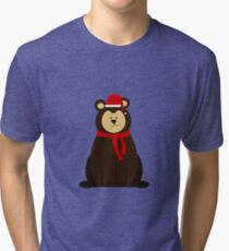 ChristmasBear! Tri-blend T-Shirt