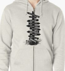 The Lands Of Once Upon A Time Zipped Hoodie