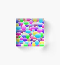 Bubble Eggs Dark Acrylic Block