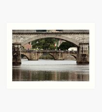 Bridges Over the Charente Art Print