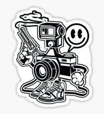 I Shoot People Photography Cartoon Character Sticker