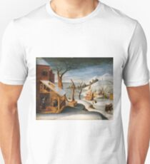Winter Landscape with the Angel Appearing to Saint Jos T-Shirt