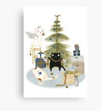 Decorating the Christmas Tree Canvas Print