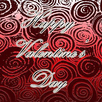 Happy Valentine's Day (Red Swirl) by blakcirclegirl