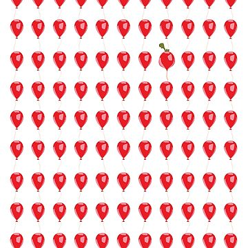 98 red balloons...and a radish by quirkusCreative