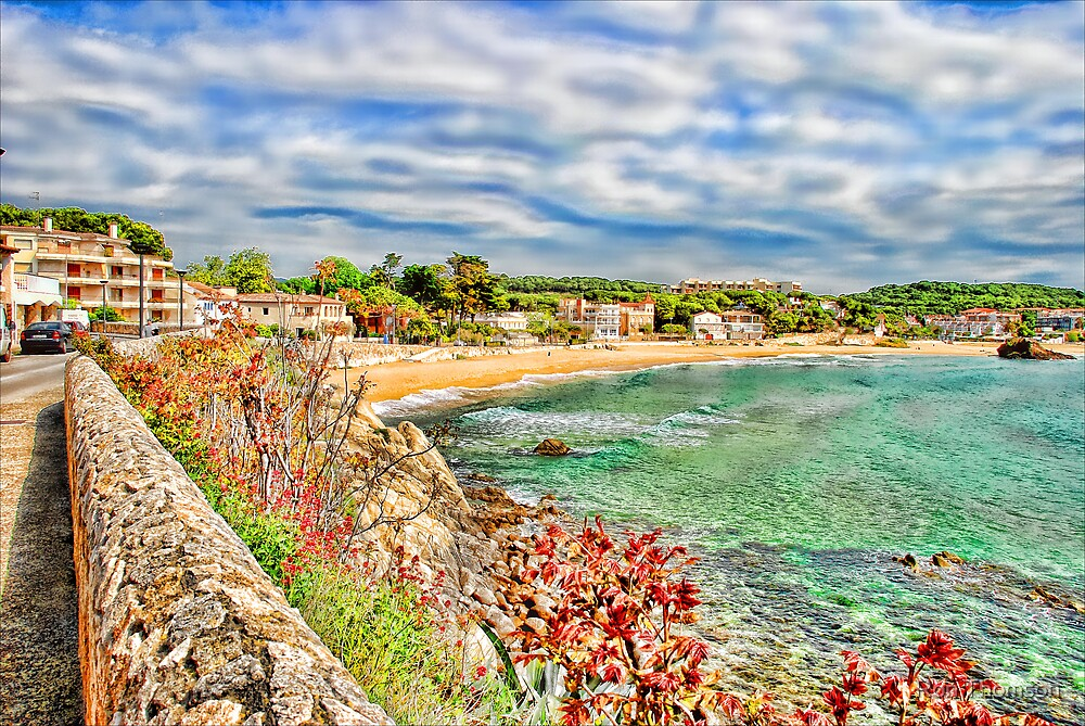Painting of La Fosca Spain by Ron Thomson