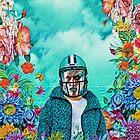 Floral American Football by jblittlemonsters