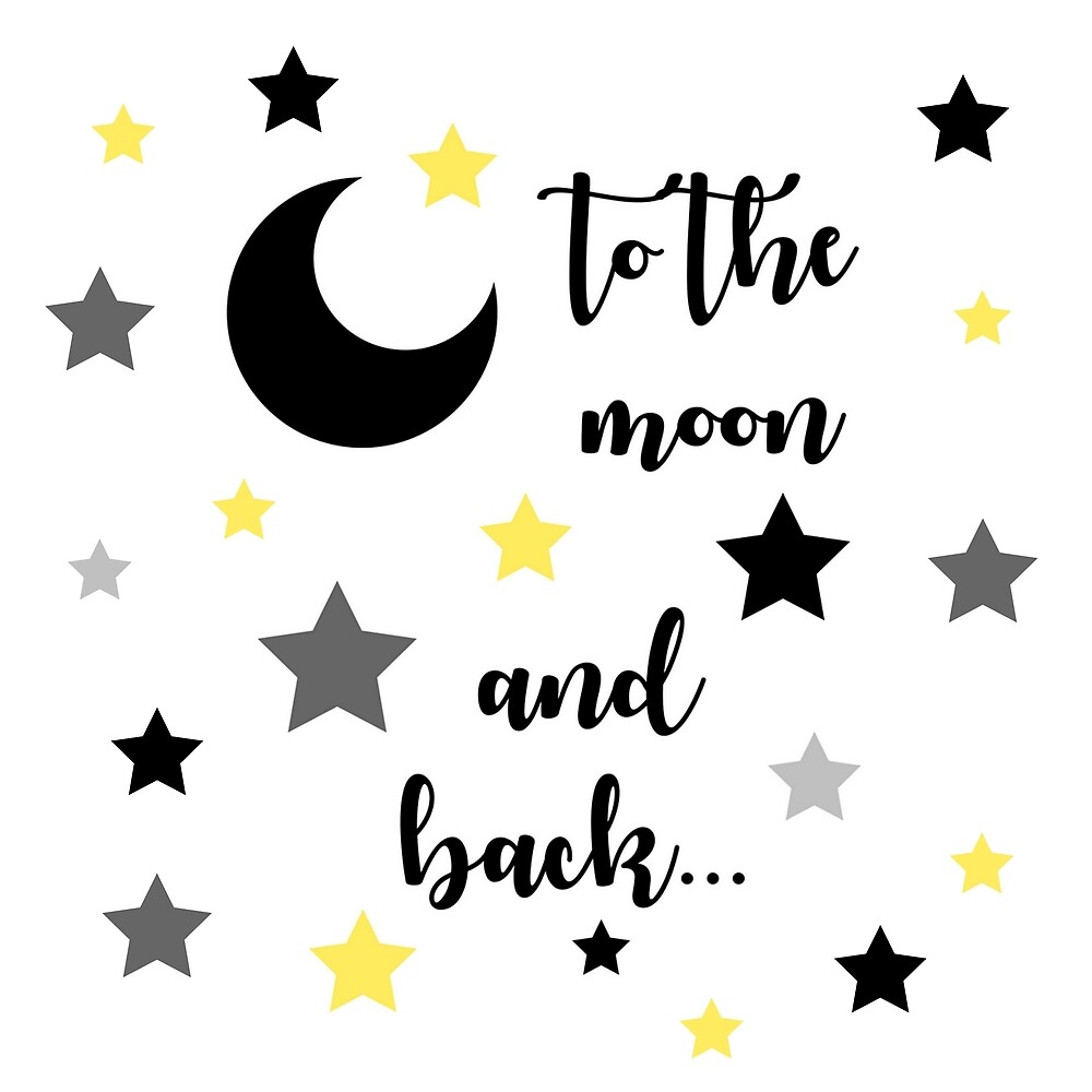 To The Moon and Back #art #decor #love #moon #stars by Jacqueline Cooper