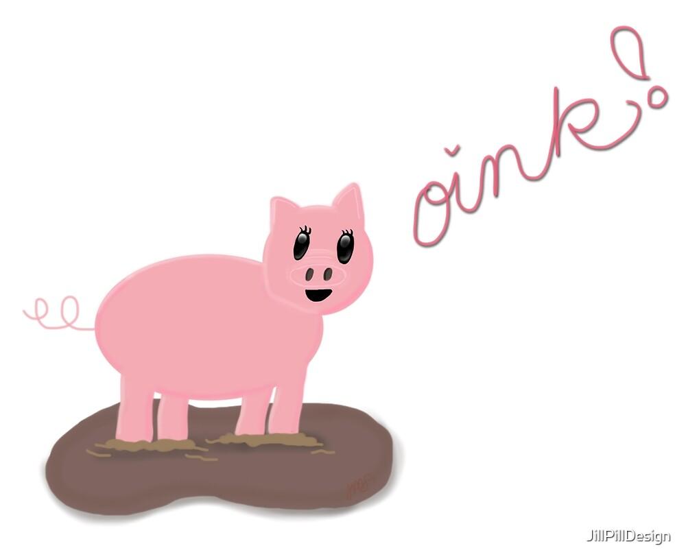 Oink! - A Piggy Pattern by JillPillDesign