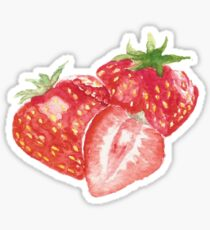 strawberry watercolor painting Sticker