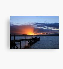 Sunset Holywood Northern Ireland Canvas Print