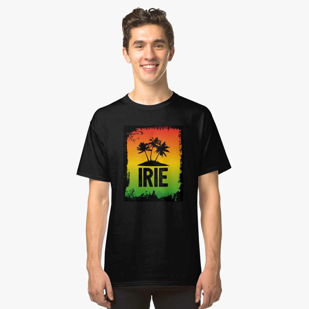Irie Jamaican Patwa Slang Rasta Friendly Greeting Graphic Print
