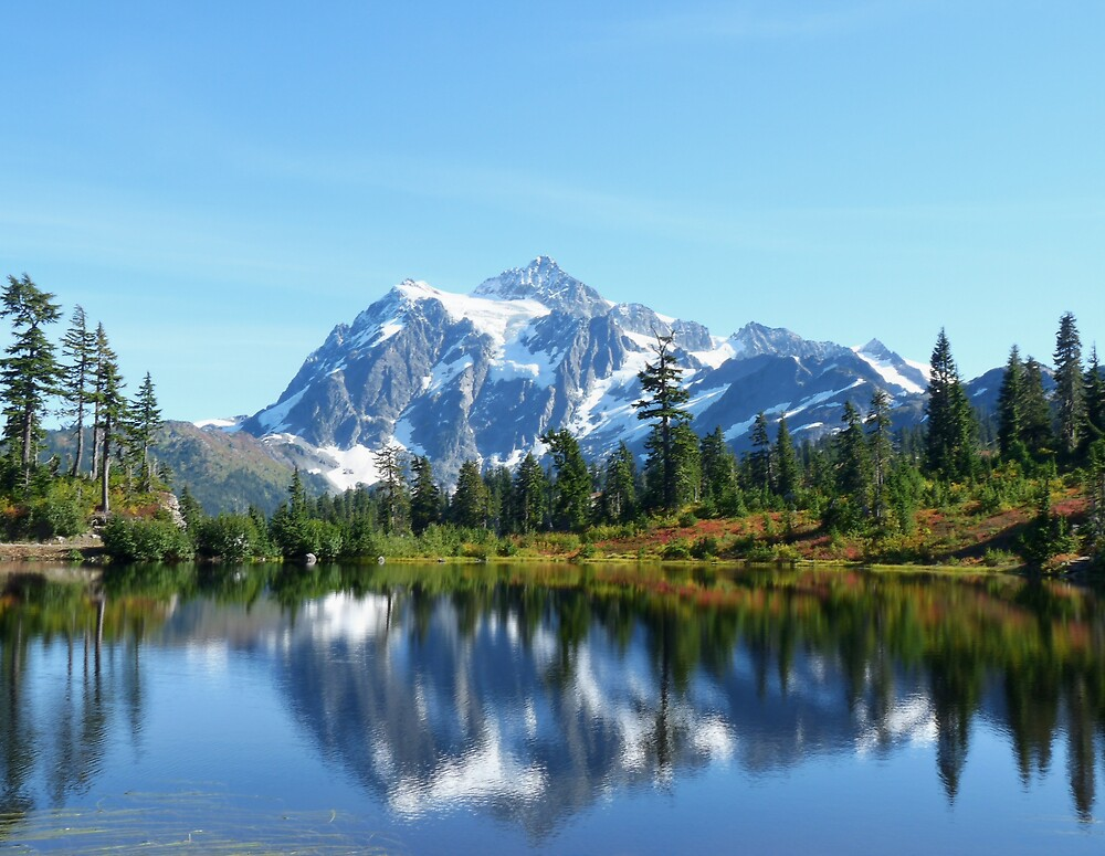 Fall Mountain Reflection  by Marvin Hayes