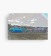 Toyota vs Subaru Canvas Print