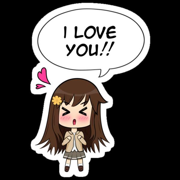 Chibi I Love You by Dooom-Sama on DeviantArt  |Chibi Love Anime