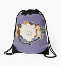 Sleepy Cats Drawstring Bag