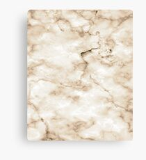 Marble Pattern - Background - Texture - Bright Pastel Brown Canvas Print