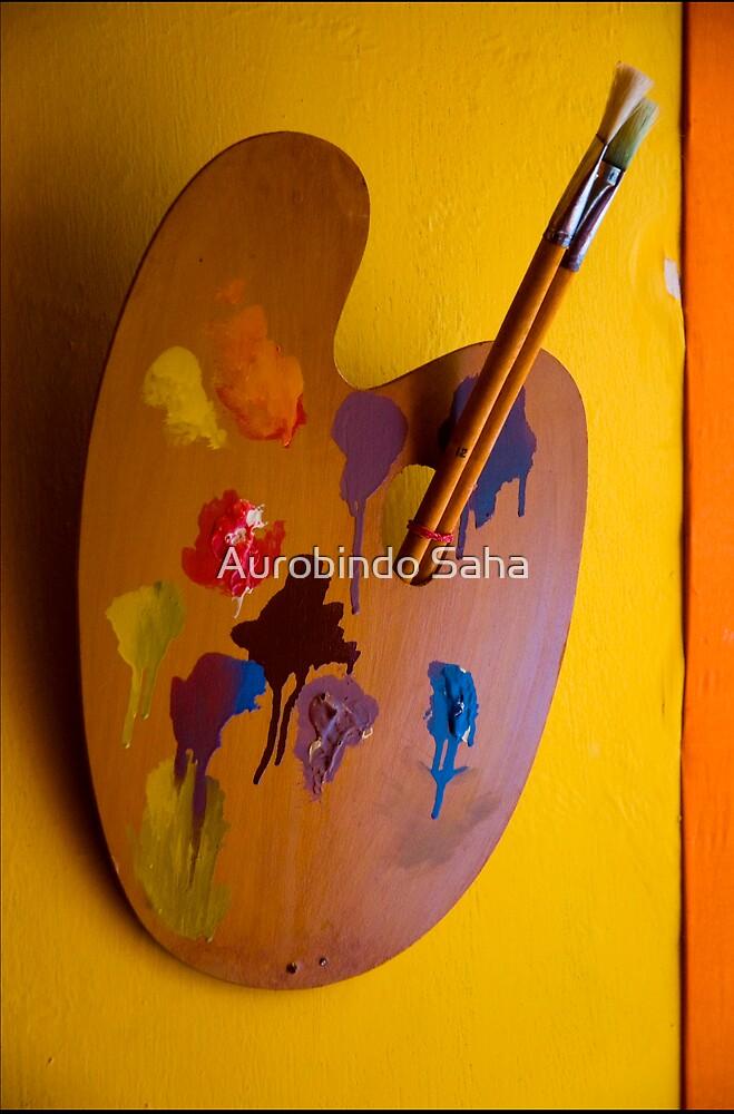 Paint and Brush by Aurobindo Saha