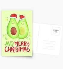 Avocado - Avo Merry Christmas Postcards