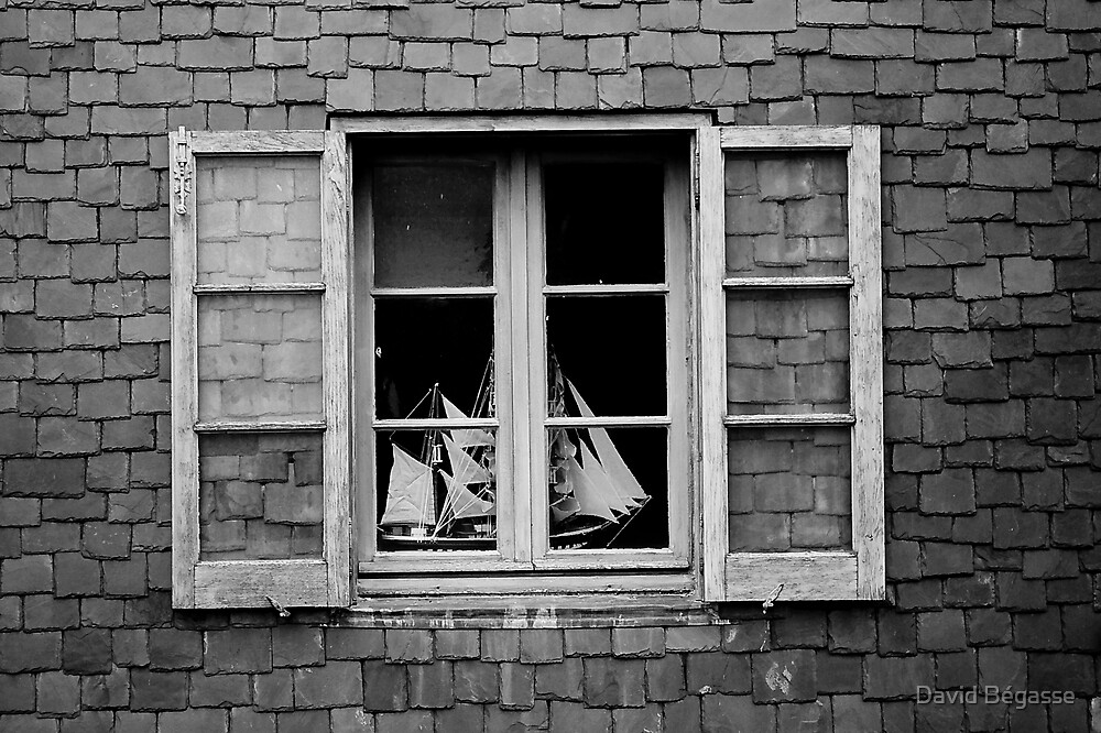 The boat behind the window by David Bégasse