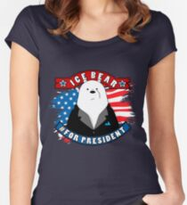 Ice Bear President Women's Fitted Scoop T-Shirt