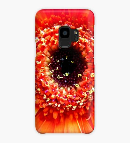Gerbera in orange and pink Case/Skin for Samsung Galaxy