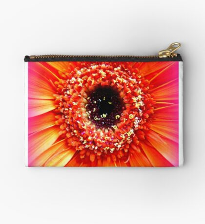 Gerbera in orange and pink Studio Pouch