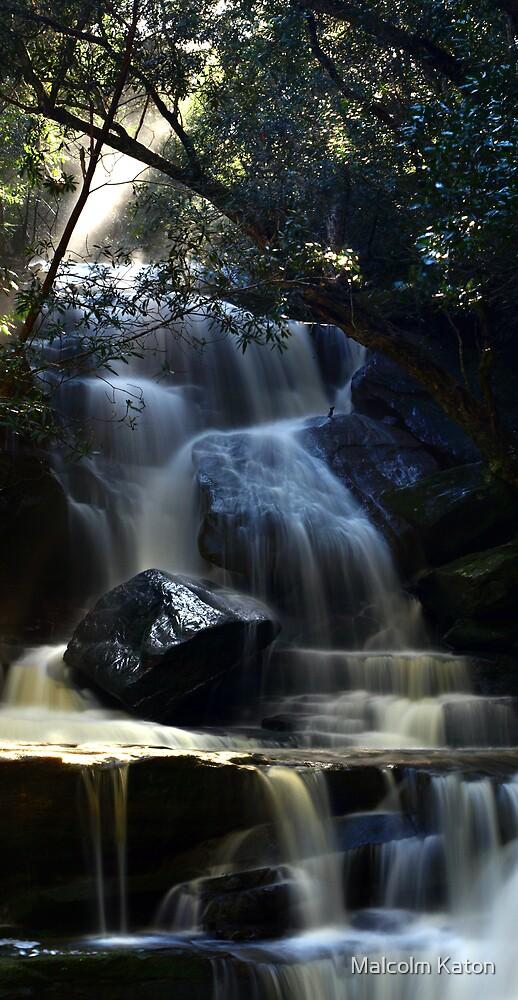 Somersby Falls - Gosford, NSW by Malcolm Katon