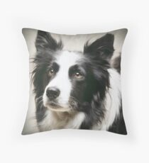 Working Border Collie Throw Pillow