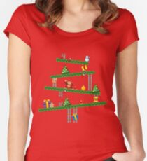 Donkey Kong Christmas Women's Fitted Scoop T-Shirt