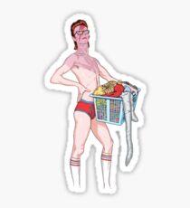 David Bowie laundry Sticker