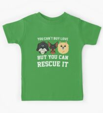 You Can't Buy Love but You Can Rescue it Cats Kids Tee