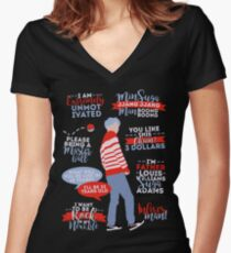 BTS Suga Quotes Women's Fitted V-Neck T-Shirt