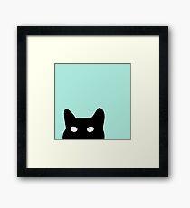 Hiding Kitty Cat Framed Print