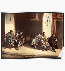 Arabs relaxing vintage photograph Poster