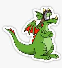 Aero the Dragon Sticker