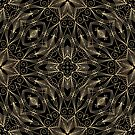 Gold and Black Filigree 001 by Ruth Moratz