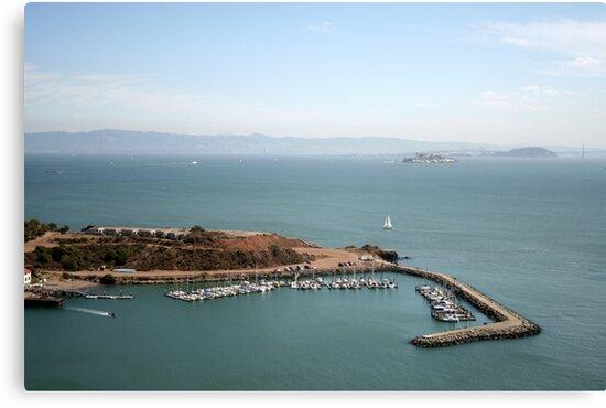 View from Golden Gate bridge San Francisco CA by Ilan Cohen