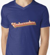 Embarcadero | Retro Rainbow Men's V-Neck T-Shirt