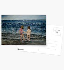 """Beach Kids"" - Oil Painting Postcards"